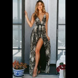 Fashion Nova Sequin Maxi Dress